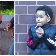 Un garçon de 10 ans fumeur demande du feu à des passants, l'expérience sociale choquante