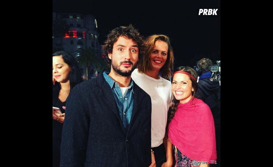 Jérémy (Fréro Delavega) et Laure Manaudou ensemble sur le tapis rouge des NMA 2015, le 7 novembre 2015, à Cannes