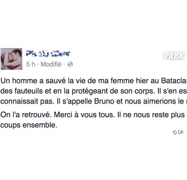 Attentats de Paris : Bruno retrouvé grâce aux réseaux sociaux