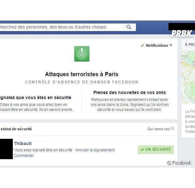 Facebook : le système Safety Check activé suite aux attentats de Paris le 13 novembre 2015