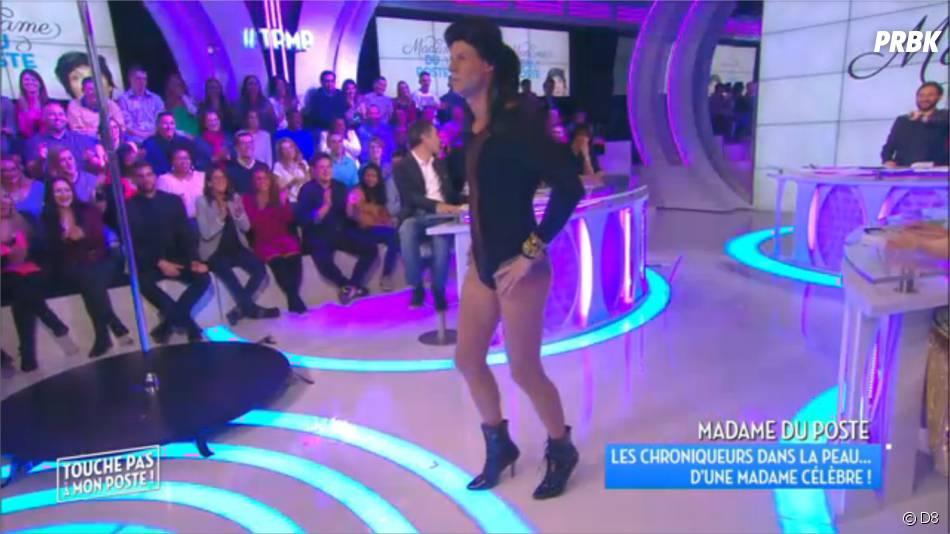 Matthieu Delormeau habillé d'un body pour une imitation délirante de Beyoncé dans TPMP, le 23 novembre 2015