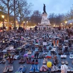 COP 21 : des milliers de chaussures envahissent Paris, Marion Cotillard se mobilise
