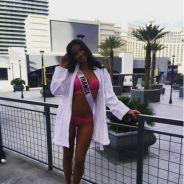 Flora Coquerel sexy en bikini pendant les préparatifs de Miss Univers 2015