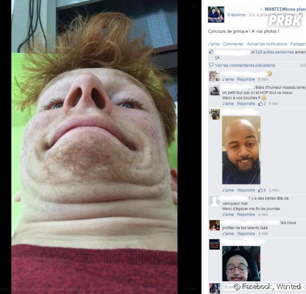 #Wanted : la communauté Facebook s'est lancé dans un concours de grimaces
