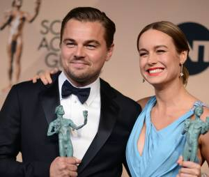 LeonardoDiCaprio et Brie Larson gagnants lors des SAG Awards 2016, le 30 janvier, à Los Angeles