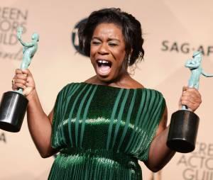 Uzo Aduba (Orange is the new black) lors des SAG Awards 2016, le 30 janvier, à Los Angeles
