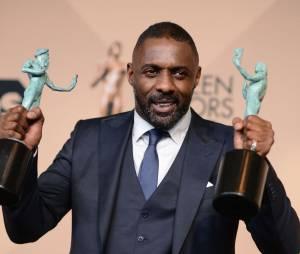 Idris Elba gagnant lors des SAG Awards 2016, le 30 janvier, à Los Angeles