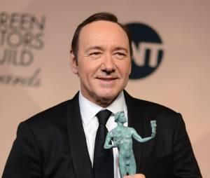 Kevin Spacey gagnant lors des SAG Awards 2016, le 30 janvier, à Los Angeles