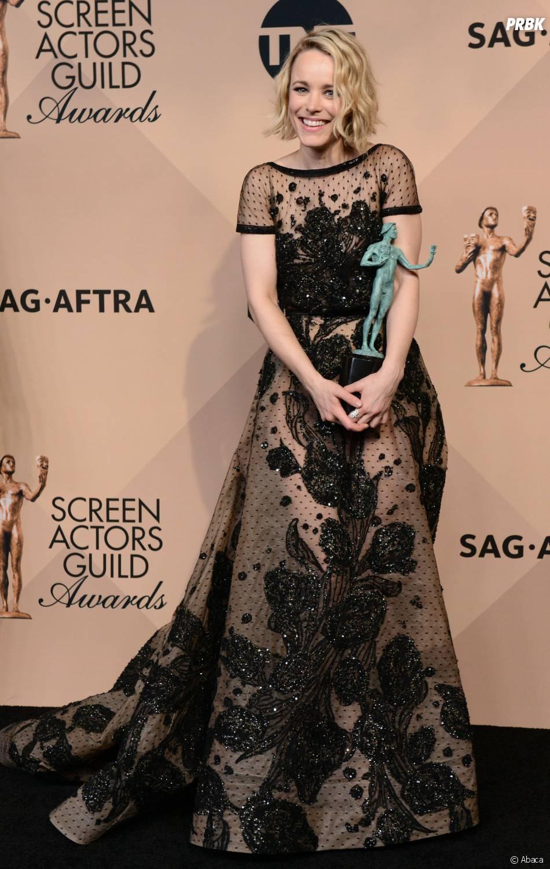 Rachel McAdams gagnante lors des SAG Awards 2016, le 30 janvier, à Los Angeles