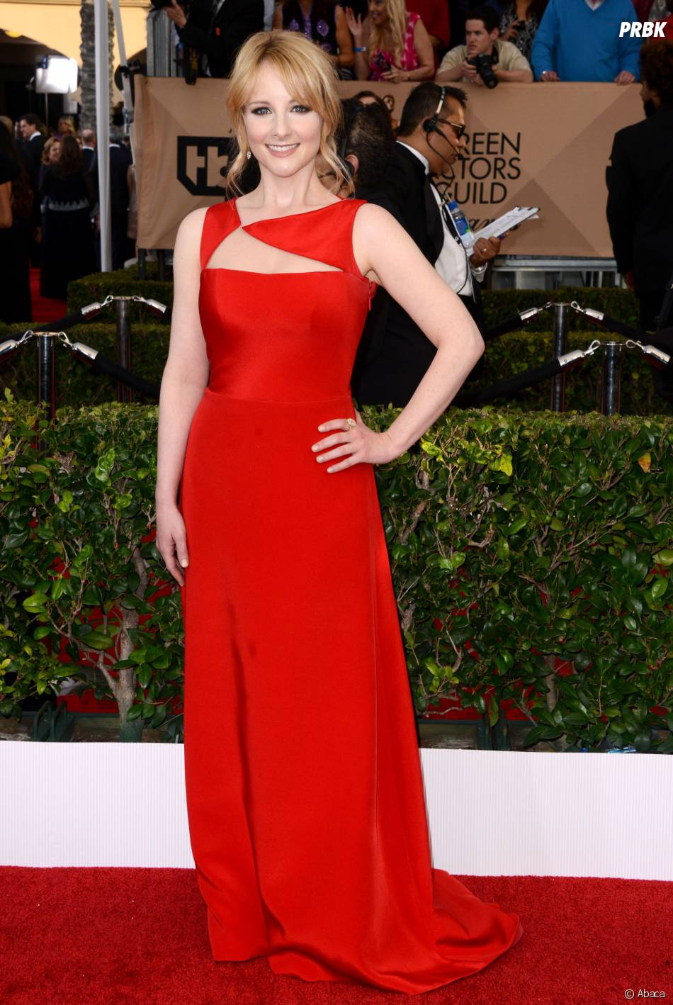 Mélissa Rauch (The Big Bang Theory) lors des SAG Awards 2016, le 30 janvier, à Los Angeles