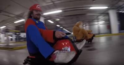 Mario Kart dans la vraie vie... en plein centre commercial !