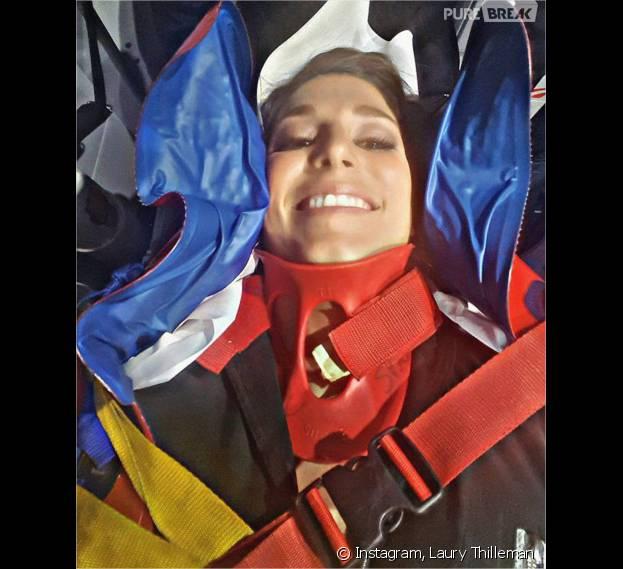 Laury Thilleman à l'hôpital après sa chute dans Vendredi tout est permis le 5 février 2016, elle donne de ses nouvelles