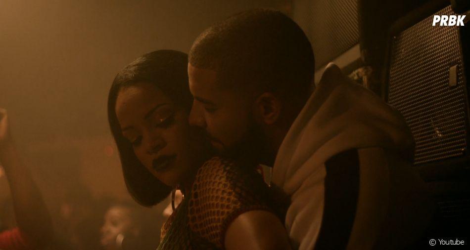 Rihanna très proche de Drake dans le clip Work