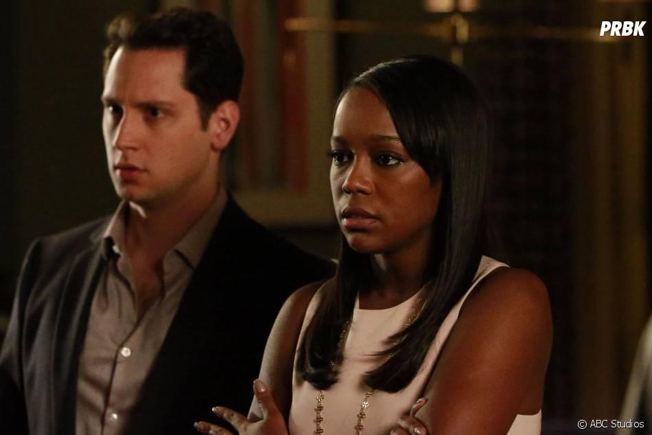 How To Get Away With Murder saison 2, épisode 12 : Asheer (Matt McGory) et Michaela (Aja Naomi King) sur une photo