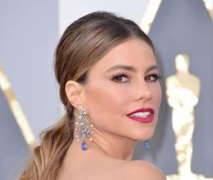 Sofia Vergara sur le tapis rouge de la 88e cérémonie des Oscars 2016 à Los Angeles, le 28 février 2016