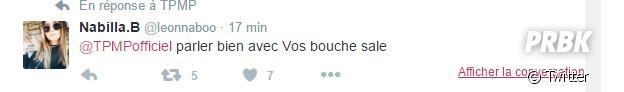 Nabilla Benattia tacle TPMP et Bertrand Chameroy sur Twitter