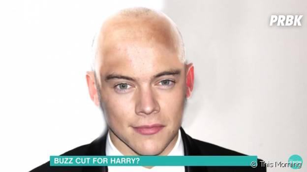 Harry Styles chauve sur un photo-montage de l'émission This Morning