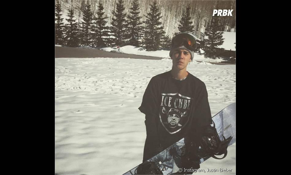 Justin Bieber : ses vacances à la montagne en avril 2016