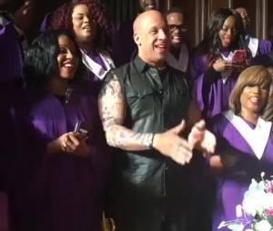 Vin Diesel chante du gospel et réalise son rêve