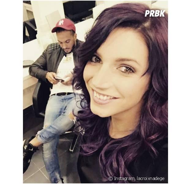 Nadège Lacroix (Les Anges 8) : après le rose, elle se teint les cheveux en violet